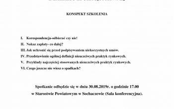 (Polski) ZAPRASZAMY  DO UDZIAŁU W SZKOLENIU  Z ZAKRESU EDUKACJI PRAWNEJ